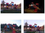 نصب وسایل بازی پلی اتیلن در پارک شهید همت پور