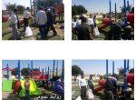 عملیات نصب وسایل بازی کودکان در پارک محلی ناصر خسرو با حضور  شاهین زلقی ریاست شورای اسلامی شهر شوشتر
