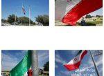 مدیر روابط عمومی شهرداری شوشتر از نصب چهار پرچم بزرگ ۳۳۰  و ۱۴۰ متری جمهوری اسلامی ایران در ورودی های شهر شوشتر  خبر داد.