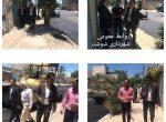 بازدید شهردار و ریاست شورای اسلامی شهر شوشتر از پروژه آسفالت خیابان دو منازل سازمانی شبکه بهداشت