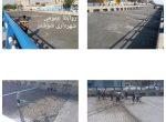 اجرای بتن ریزی شش پلان کف زیر گذر شهیدان خادم سیدالشهداء