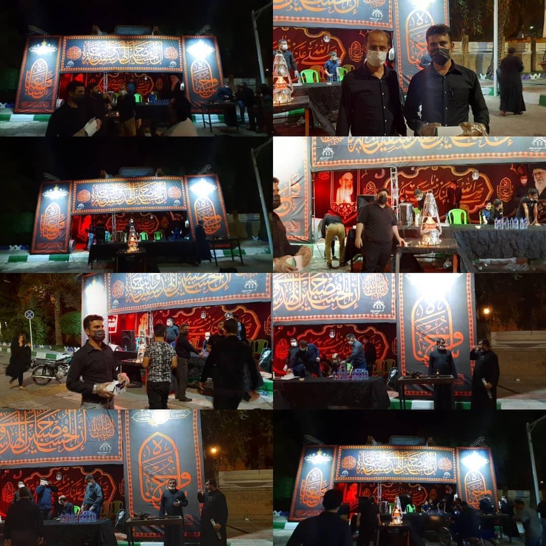 ایستگاه صلواتی روابط عمومی شهرداری و شورای اسلامی شهر شوشتر در شب عاشورا