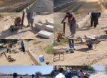 عملیات عمرانی زیرسازی پیاده رو های بلوار امیر کبیر به روایت تصویر