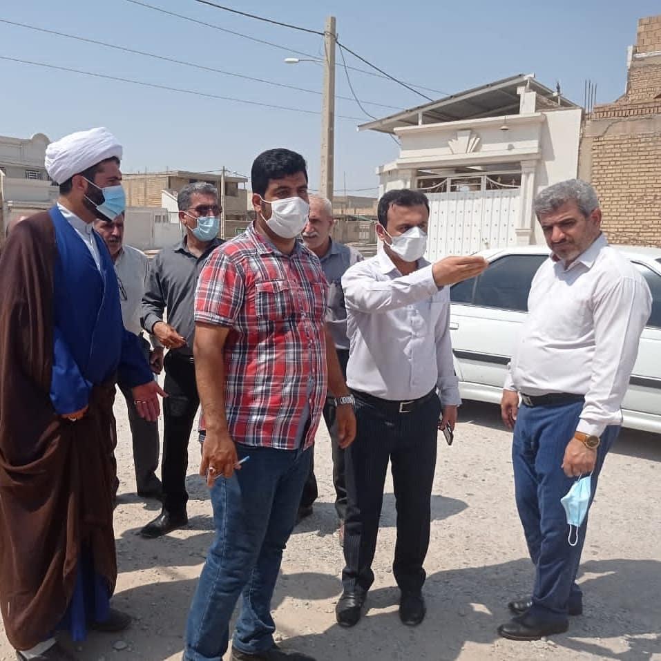 بازدید سرپرست  شهرداری و اعضای ششمین دوره شورای اسلامی شهر شوشتر از پروژه های فعال سطح شهر