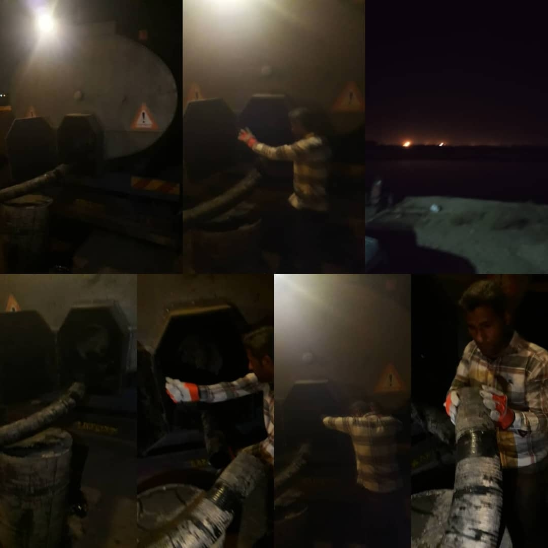 گوشه ای از تلاشهای شبانه روزی تلاشگران کارخانه آسفالت شهرداری شوشتر به روایت تصویر