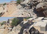 تخریب  ساخت و ساز غیرمجاز در ناحیه دو معاونت خدمات شهری شهرداری شوشتر
