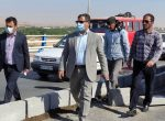 بازدید معاونت فرمانداری شهرستان شوشتر و سرپرست شهرداری از ادامه عملیات ایمن سازی تردد روی پل شهید کجباف